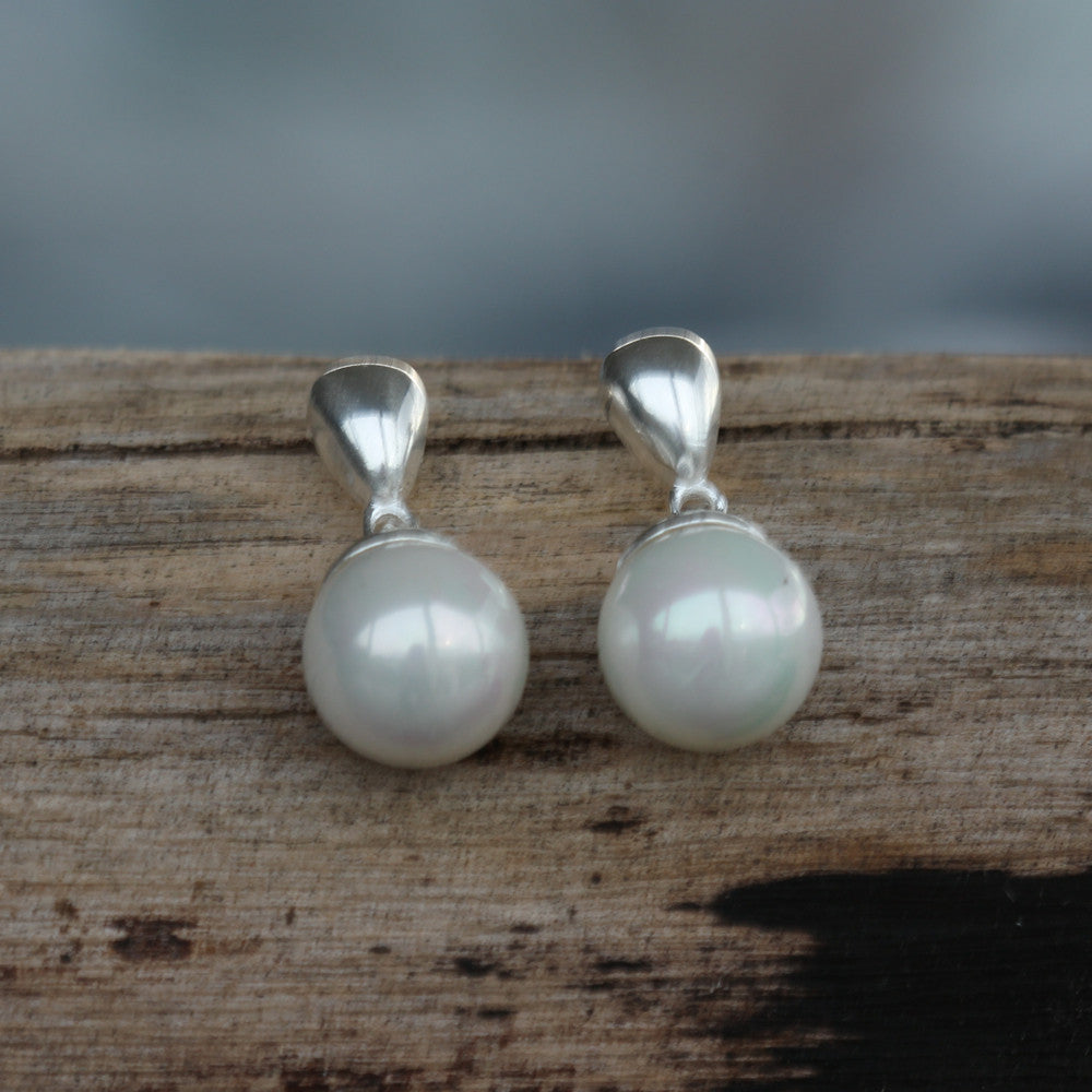 Charlotte Sterling Silver Pearl Drop Earrings