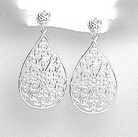 Dahlia Sterling Silver Drop Earrings