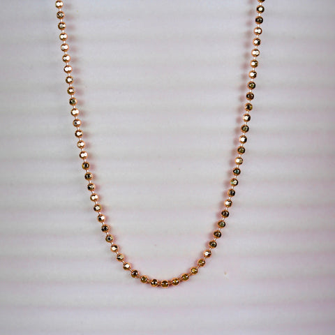 Bettina Rose Gold Beaten Ball Chain