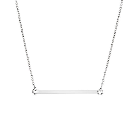 Chance Sterling Silver Thin Bar Necklace