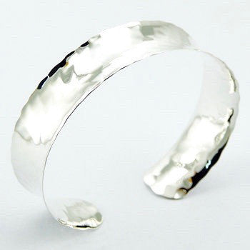 Haylee Hammered Sterling Silver Cuff Bangle