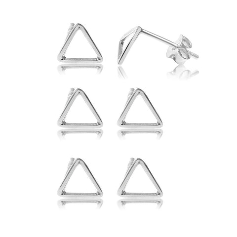 Lara Sterling Silver Small Triangle Stud