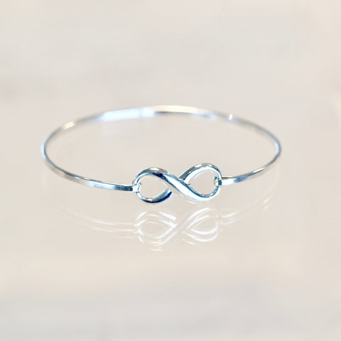 Stephie Sterling Silver Infinity Bangle