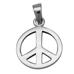 Peace Sign Pendant - 925 Sterling Silver