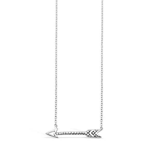 Tatum Sterling Silver Arrow Necklace