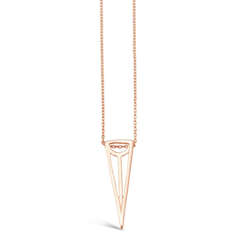 Flo Rose Gold Point Necklace