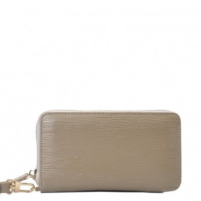 Victoria Phone Wallet in High shine patent PU