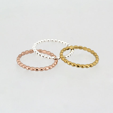DIPSI ROSE GOLD STACKER RING