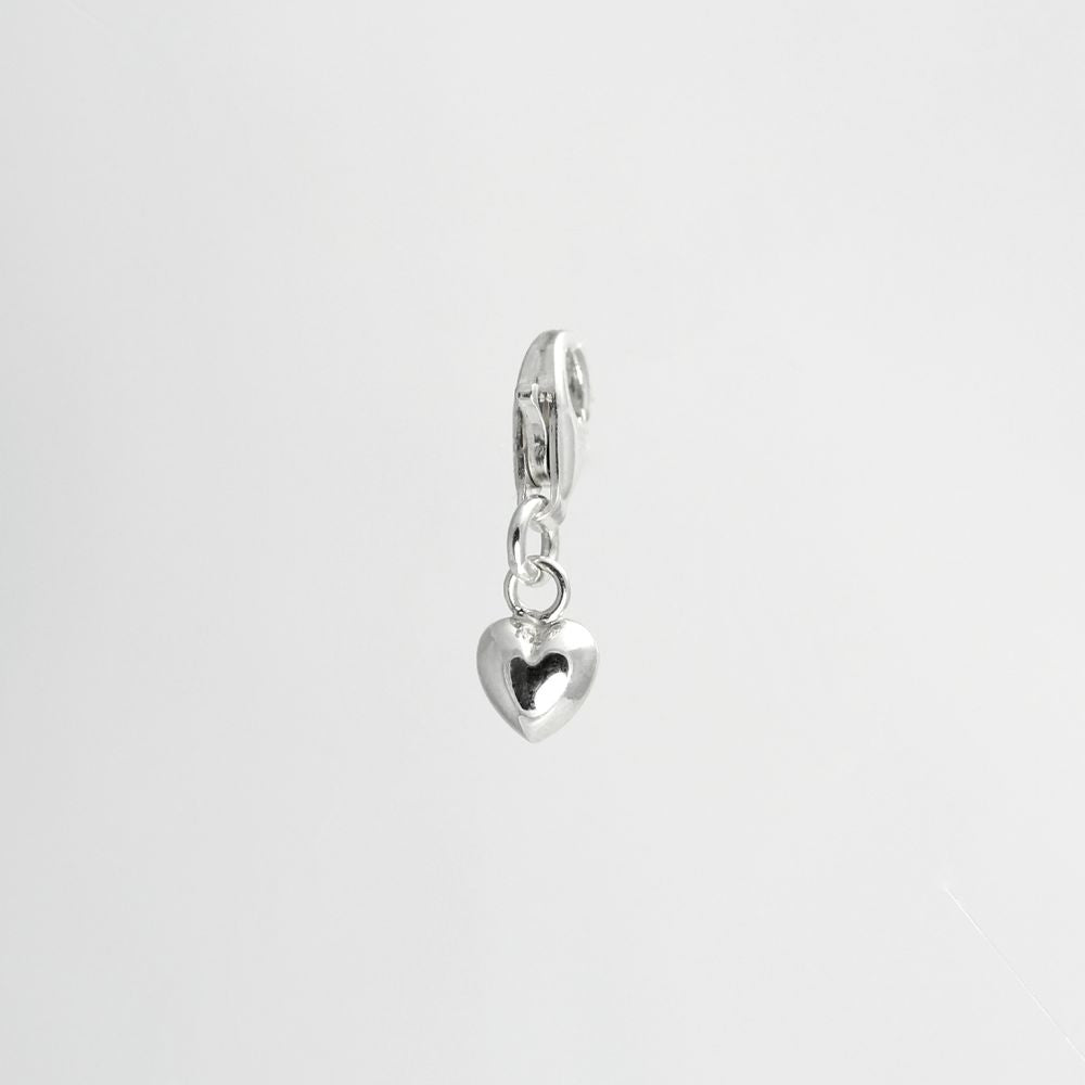 MINIATURE PUFF HEART CHARM
