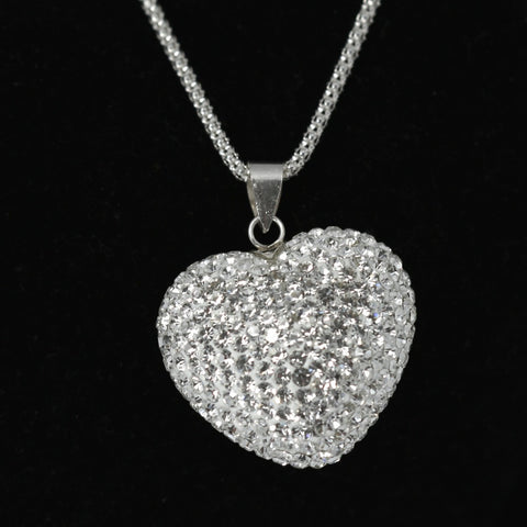 DIAMANTE PUFF HEART