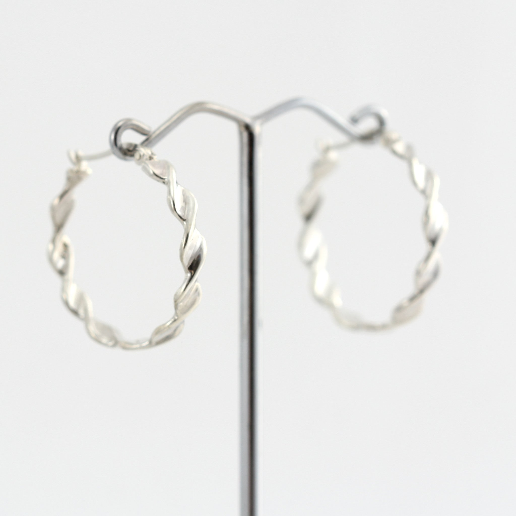 Rhonda Sterling Silver Twist Earrings