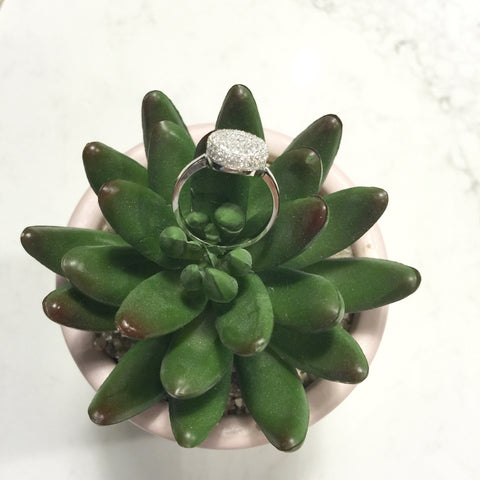AVERY DIAMANTE STERLING SILVER RING