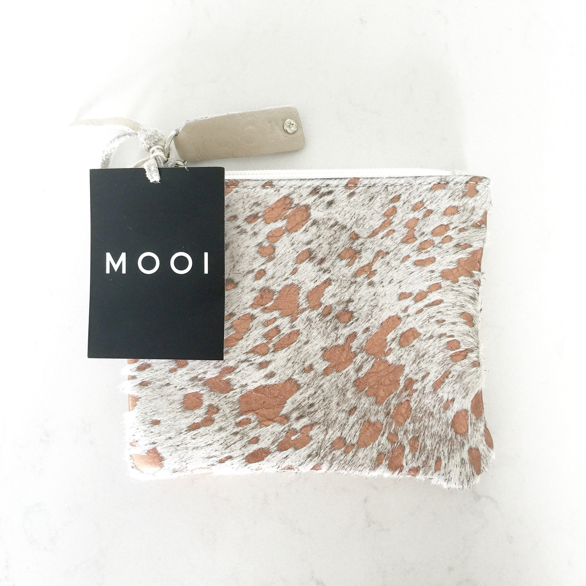 Mooi Kim Purse in Rose Gold and Cream
