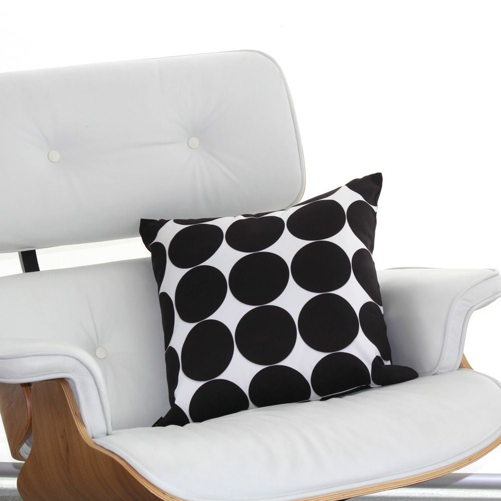 POLKA DOT BLACK CUSHION