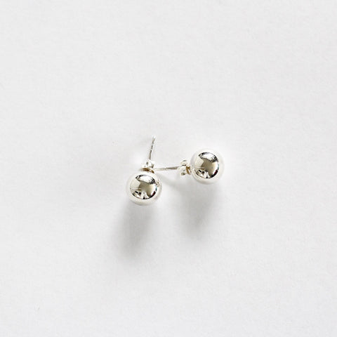 Jan 10mm Sterling Silver Ball Stud Earrings