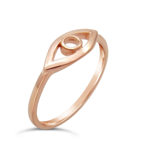Marcia Eye of Horus Rose Gold Ring