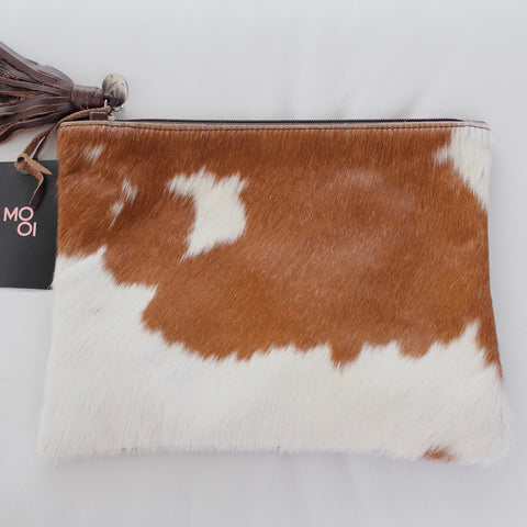 Jem Maxi Pouch in  Brown and White by Mooi