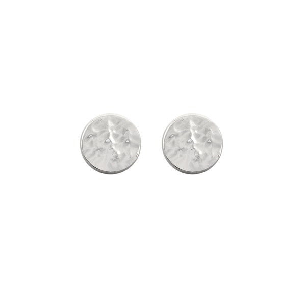 Ichu Hammered Stud Earring 925 Sterling Silver