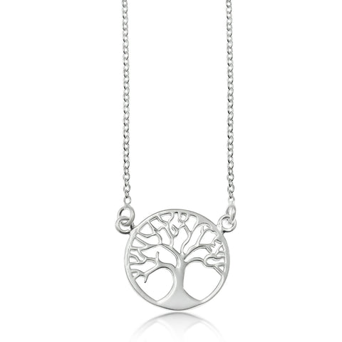 Ella Sterling Silver Tree of Life Necklace