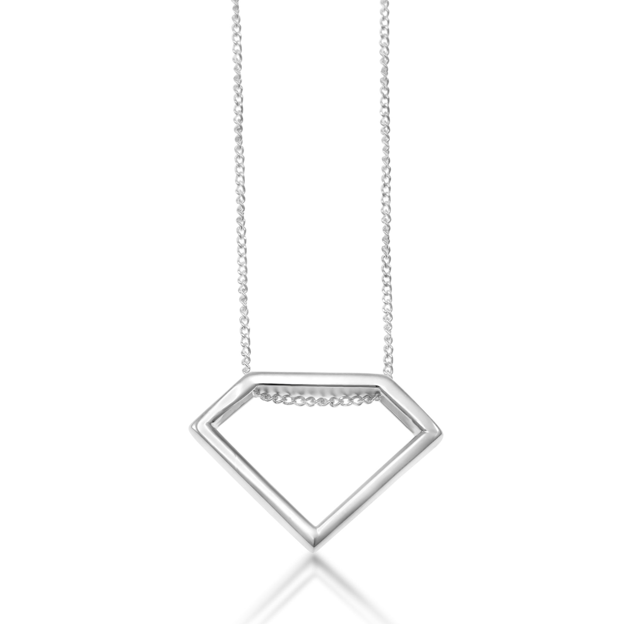 Ingrid Sterling Silver Triangle Necklace
