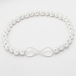 Piper Sterling Silver Ball Infinity Bracelet