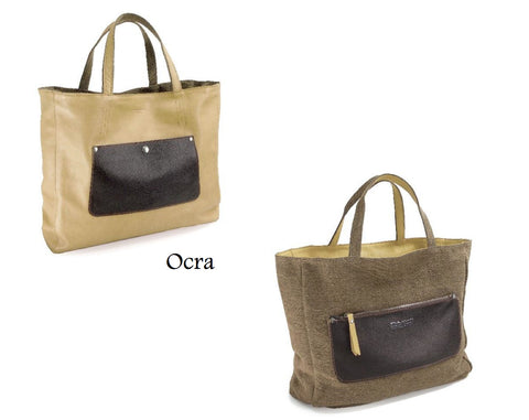 Pulicati Leather / Jute  Reversible Tote