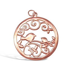 Caroline Sterling Silver Rose Gold Plated 3cm Pendant