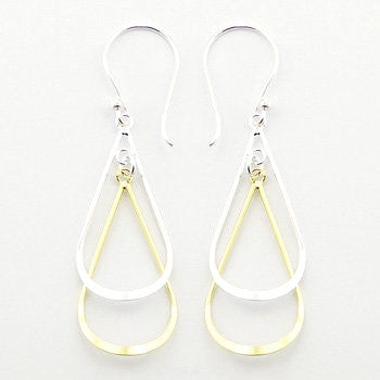 Clarissa Sterling Silver and Gold Plated Sterling Silver Drop Earrings