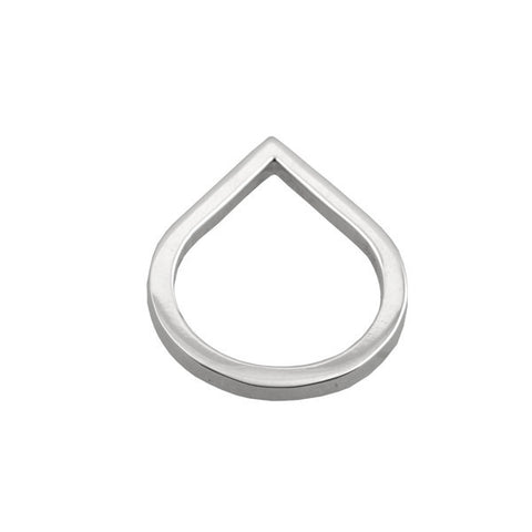 Ichu Open Point Ring Necklace 925 Sterling Silver