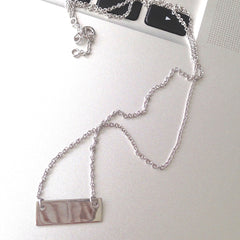 Terri Sterling Silver Bar Necklace