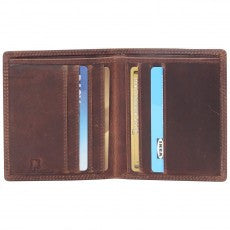 Toby Vintage Mens Leather Folding Card Holder