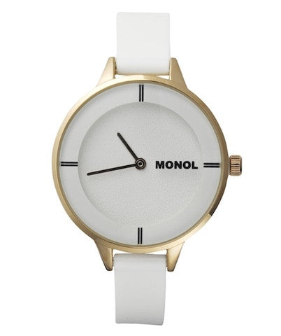 Monol Denmark 3G Mille White and Rose Gold Watch