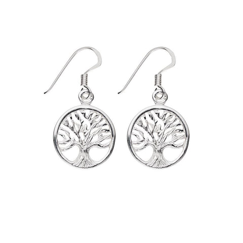 Belle Sterling Silver Tree of Life Earrings