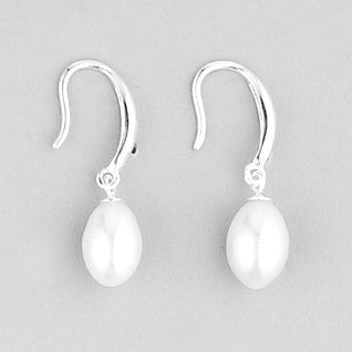 Michelle Pearl and Sterling Silver Earrings