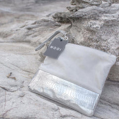 Natalie Grey and Silver Clutch Bag