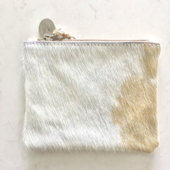 Mooi Kim Purse in Beige and White