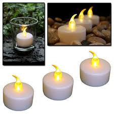 ENJOY Flameless Plastic Tea Lights Set of 4