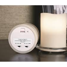 "ENJOY Flameless Candle 3.1"" x 4"" 2 Pack Classic Ivory Smooth Candles with remote control"