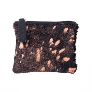 Mooi Kim Rose Gold and Black Hair on Purse