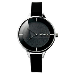 Monol Denmark 3G Mille Black and Silver Watch