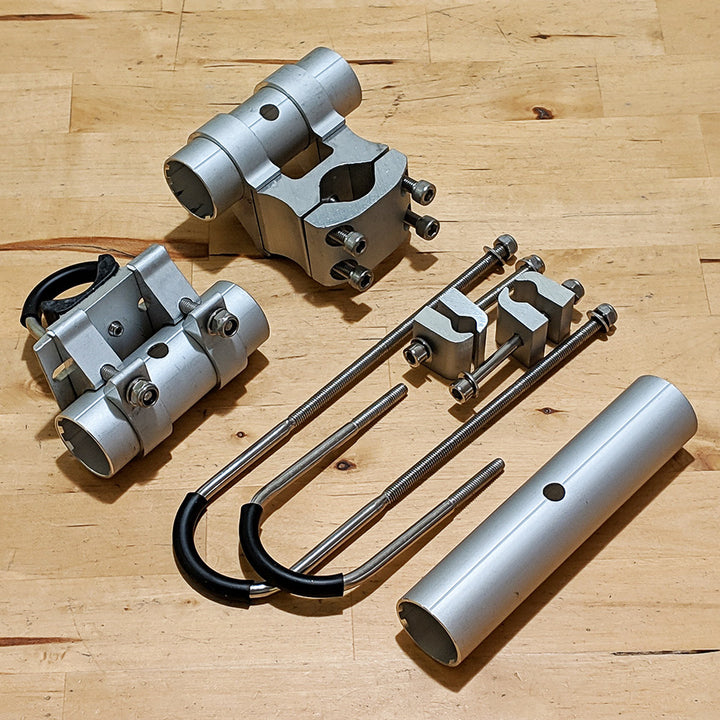 Longboard Rack Mounting Set (All 3 Mounts) - Moved By Bikes (MBB)