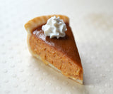 Polymer Clay Pumpkin Pie Slice Charm or Key Chain