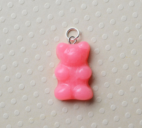 Polymer Clay Mini Gummy Bear Charm, Key Chain, Stitch Marker