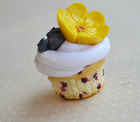 Blueberry Buttercup Cupcake Magnet