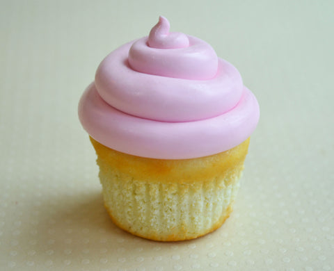 Vanilla Bakery Cupcake with Pink Buttercream Food Fridge Magnet, Polymer Clay Miniature Food Fridge Magnet