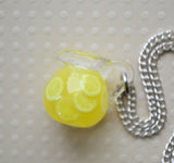 Pitcher of Fresh Squeezed Lemonade Necklace, Mini Food Necklace