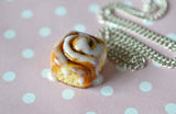 Cinnamon Roll Dessert Jewelry Necklace,Polymer Clay