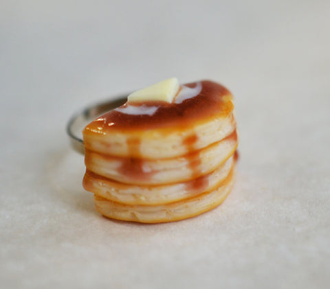 Buttermilk Pancake Stack Polymer Clay Food Ring