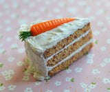 Carrot Cake Slice Miniature Food Magnet, Fridge Magnet, Polymer Clay Magnet