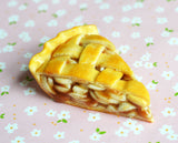 Apple Pie Miniature Dessert Fridge Magnet Home Decor Food Art, Polymer Clay
